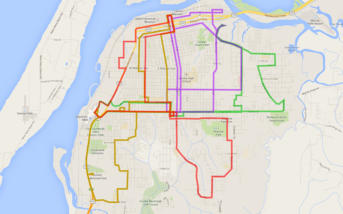 Eureka Bus Routes